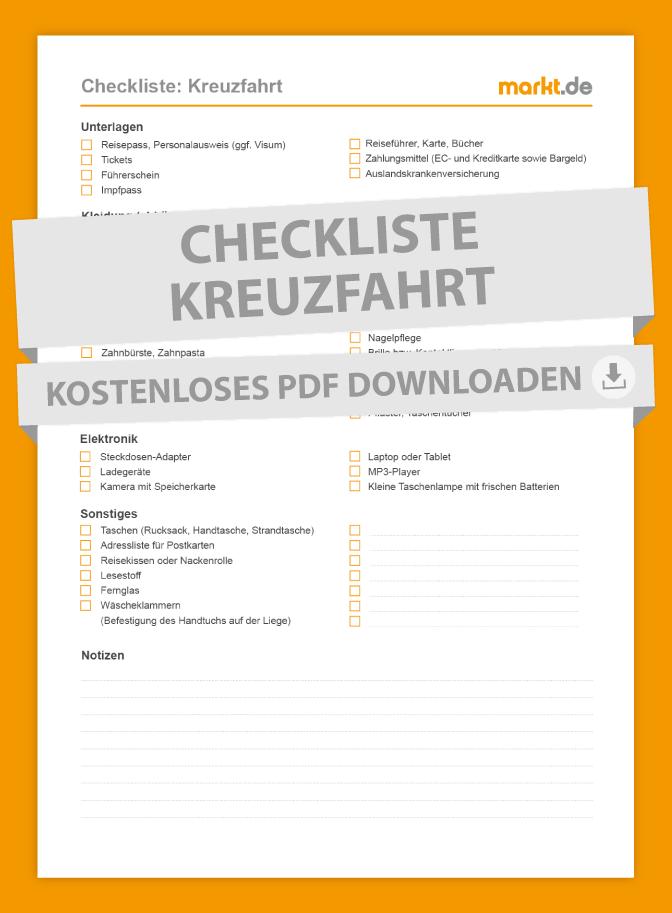 Checkliste Kreuzfahrt