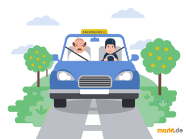 Grafik Fahrschulauto bei Fahrstunde