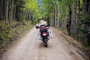 Bild Motorrad mit Seitenkoffern