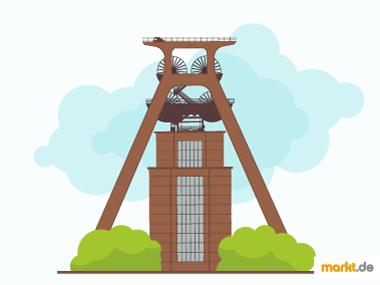 Grafik Zeche Zollverein in Essen
