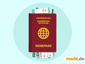 Grafik roter Reisepass