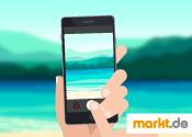 Bild Smartphone im Urlaub
